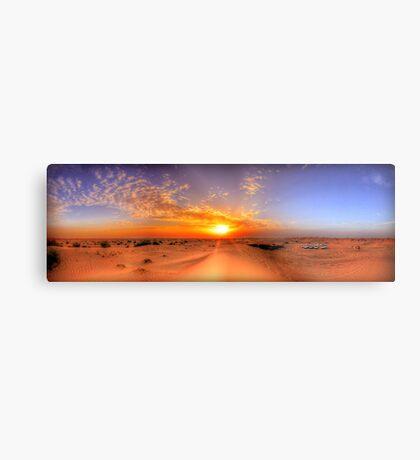Dubai Desert HDR Panorama Metal Print