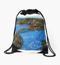 Sydney Harbour Drawstring Bag
