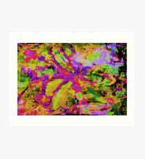 Abstract Flower Screen Print Art Print