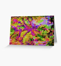 Abstract Flower Screen Print Greeting Card