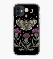 Thistle and moth iPhone Case