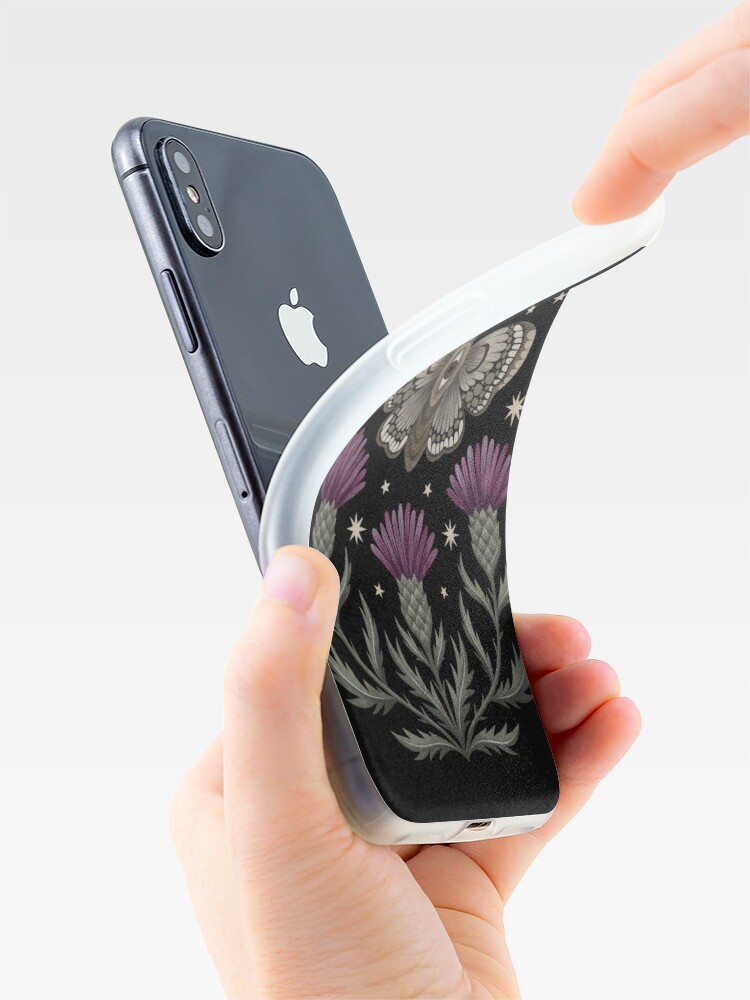 Alternate view of Thistle and moth iPhone Case & Cover