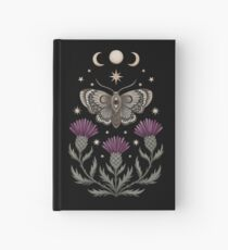 Thistle and moth Hardcover Journal