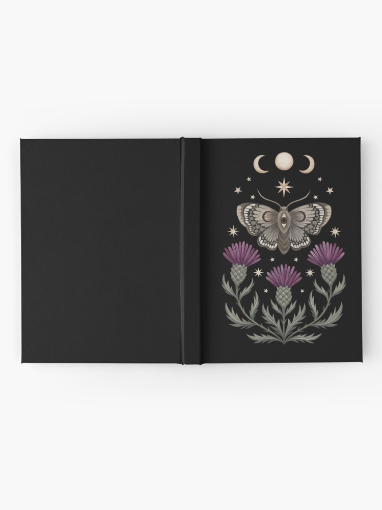 Alternate view of Thistle and moth Hardcover Journal