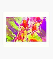 Abstract Snapdragon flower Screen Print 2 Art Print