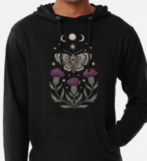 Thistle and moth Lightweight Hoodie