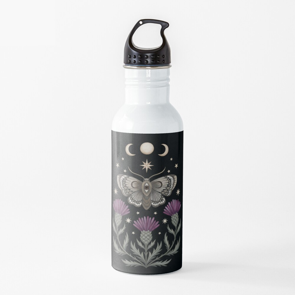 Thistle and moth Water Bottle