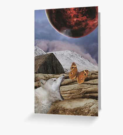 Under a blood red moon Greeting Card
