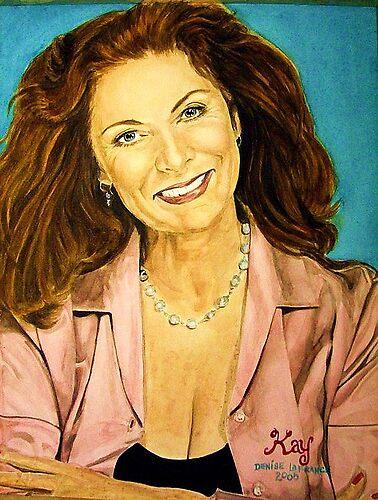 Kay Parker watercolor by DeniseLaFrance4