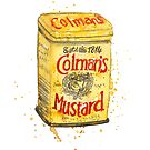 Colman's mustard illustration by Susan Mitchell