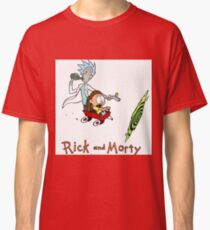 Rick and Morty Calvin and Hobbes Classic T-Shirt