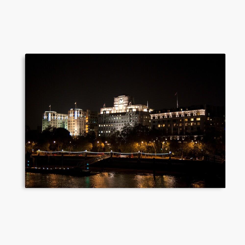 Shell Mex House London at Night Canvas Print