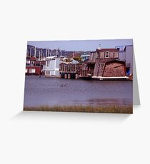 houseboats in sausalito,ca Greeting Card