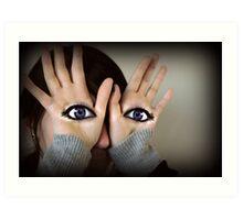 Eye see you two Art Print