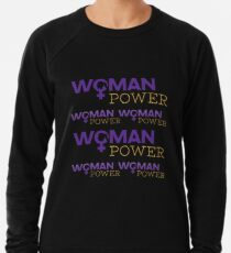 Woman Power Emoji JoyPixels Strong Girls Lightweight Sweatshirt
