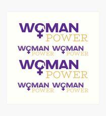 Woman Power Emoji JoyPixels Strong Girls Art Print