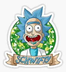 rick and morty get schwifty Sticker