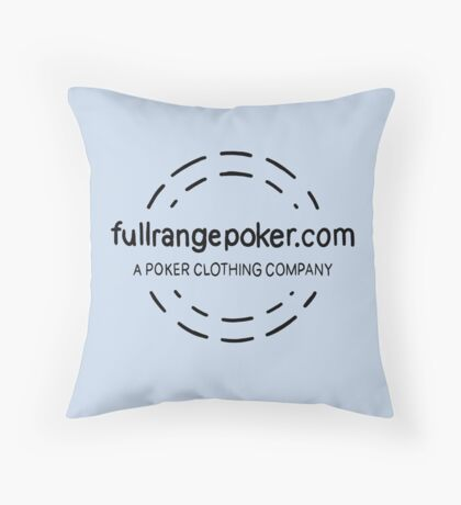 Full Range Poker logo Throw Pillow