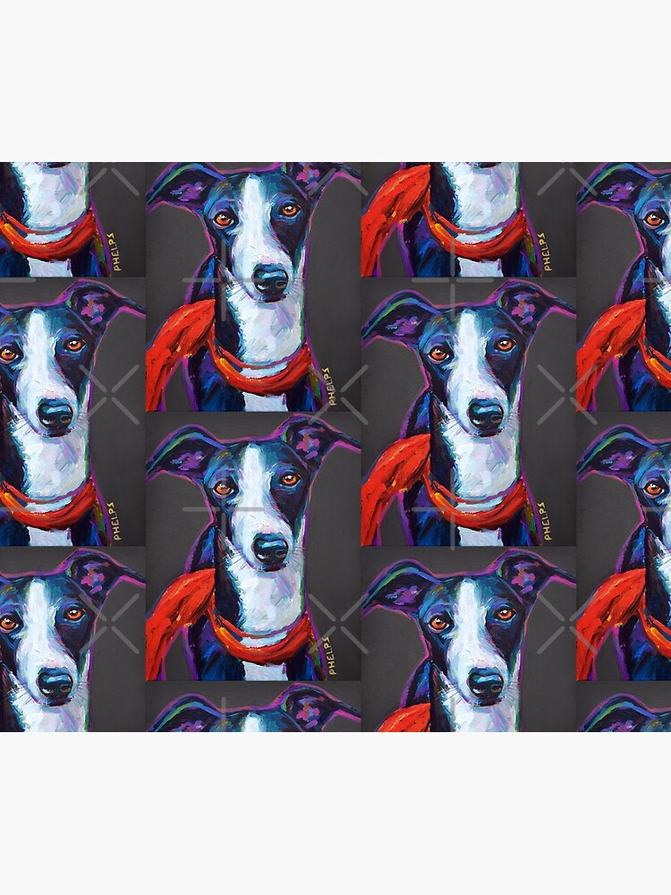 Greyhound with Scarf by RobertPhelpsArt