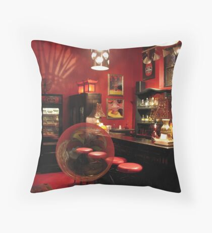 Hotel California with Bubble Throw Pillow