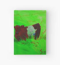 Red Belted galloway cows  Hardcover Journal