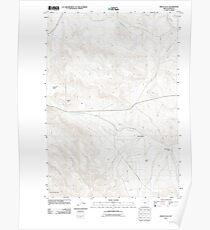 USGS Topo Map Oregon Virtue Flat 20110831 TM Poster