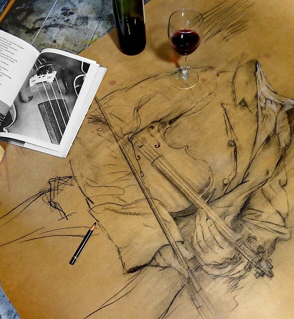 a night with paganini ......studio moment by Loui  Jover