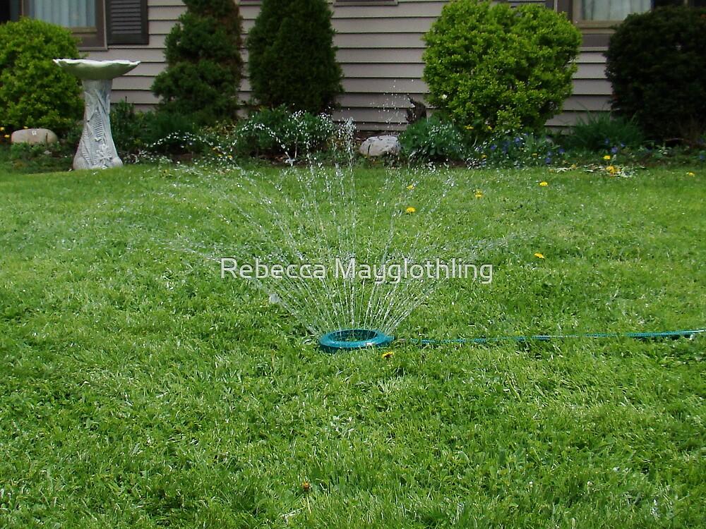 Sprinkler Kicks Off Summer by Rebecca Mayglothling