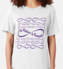 The Future is Female Emoji JoyPixels Strong Womens Slim Fit T-Shirt