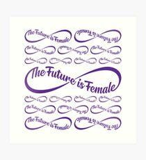The Future is Female Emoji JoyPixels Strong Womens Art Print