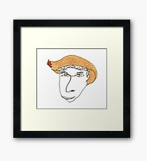 I wonder what happens if you wear this hat... Framed Print