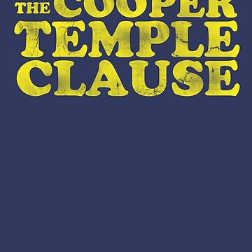 The Cooper Temple Clause by buythesethings