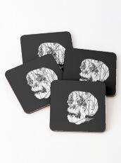 Slashed Skull Coasters