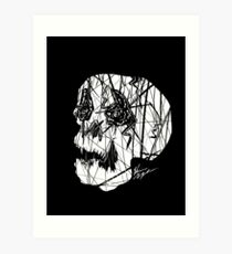 Slashed Skull Art Print