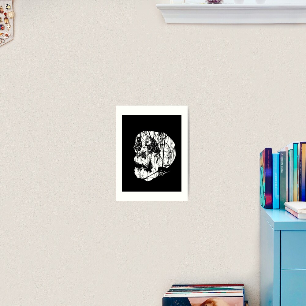 Slashed Skull Art Print