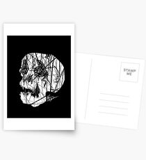 Slashed Skull Postcards
