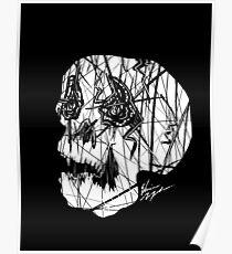 Slashed Skull Poster
