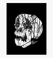 Slashed Skull Photographic Print