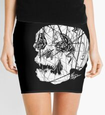 Slashed Skull Mini Skirt