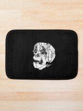 Slashed Skull Bath Mat
