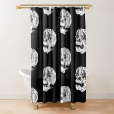 Slashed Skull Shower Curtain
