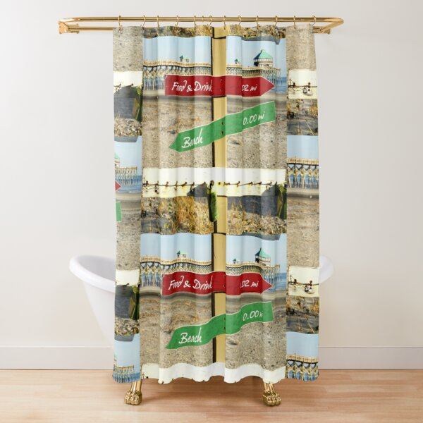 To the Beach by Jan Marvin Shower Curtain