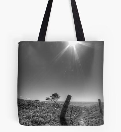 Leaning Post Tote Bag
