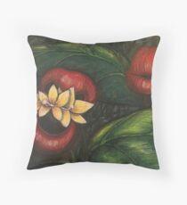 Floral Hellscape V Throw Pillow