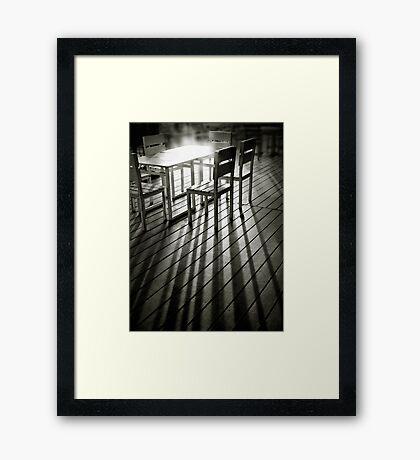 End of afternoon Framed Print