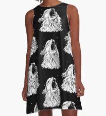 Colors/Black Screaming Thurston Meme Cat A-Line Dress