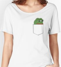 Sad Pocket Pepe Women's Relaxed Fit T-Shirt