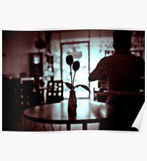 Restaurant table. Poster
