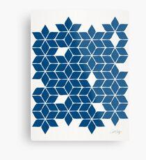 Weihnachtsstern-Sterne - klassische blaue Palette Metallbild