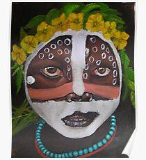 Karo Bride, Omo River, Ethiopia Poster